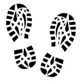 Footprints human shoes, vector silhouette. Footprints human shoes, vector silhouette Stock Photos