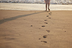 Free Footprints In The Sand Stock Photography - 16183622