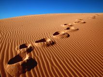 Free Footprints In The Sand Stock Image - 474271