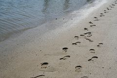 Footprints of Jesus Royalty Free Stock Photos