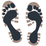 Footprints royalty free illustration