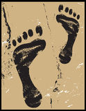 Footprints On Sand Grunge Royalty Free Stock Images