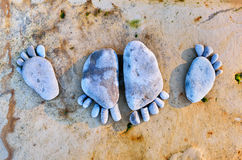 Footprints of pebbles Royalty Free Stock Images