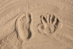 Footprints Royalty Free Stock Photography