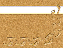 Footprints in the Sand Illustration Stock Photos