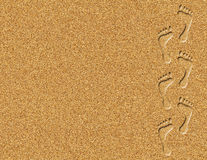 Footprints in the Sand Illustration Stock Photography
