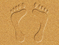Footprints in the Sand Illustration Stock Photo