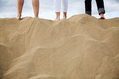 Footprints on sand Royalty Free Stock Photography