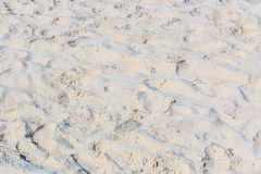 Footprints on the sand Stock Photos
