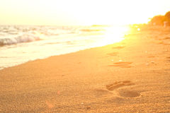 Footprints. stock images