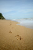 Footprints in the sand. Royalty Free Stock Images