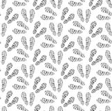 Footprints of shoes seamless pattern. Traces of footwear endless background. Shoes repetitive texture. Vector. Illustration Stock Photos
