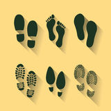 footprints and shoes Royalty Free Stock Image