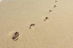Footprints on squeak romantic photo stock images