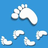 footprints wektor royalty ilustracja