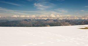 Footrpint on snow. Royalty Free Stock Photo