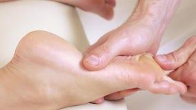 Foots девушка массажа сток-видео