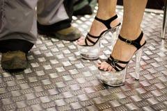 foots женщина пятки высокая Стоковое Изображение