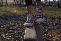 Foots на древесине Стоковое фото RF