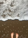 Foots blisko morza fotografia stock