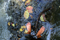 Foots on fresh water Royalty Free Stock Photos