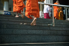 Foots path of monk. Royalty Free Stock Photos