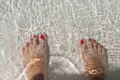 Foots in water Royalty Free Stock Image
