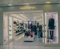 Footspot shoppar i Hong Kong Royaltyfri Fotografi
