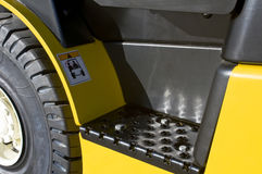 Footstep of a forklift Royalty Free Stock Photos