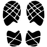 Footstep icon. Vector illustration of Footstep icon in black and white Stock Image