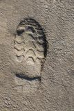Footstep pattern on a concrete background Royalty Free Stock Photos