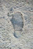 Footstep pattern on a concrete background. Footstep pattern seen on a concrete background Royalty Free Stock Photo