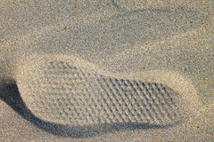 Footstep in the Sand Stock Photography
