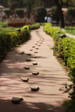 Footsteps. The last foot steps taken by Gandi Stock Photos