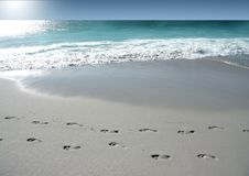 Footsteps royalty free stock photography