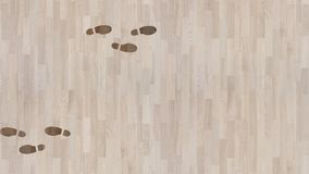 Footsteps Appearing and Disappearing on a Parquet