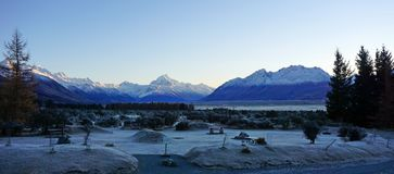 Footsteps of Lord of the Rings: Mount Cook New Zealand Royalty Free Stock Photos