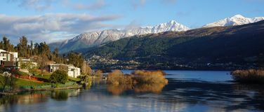 Footsteps of Lord of the Rings: Queenstown and Wakatipu lake Royalty Free Stock Image