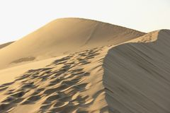 Footsteps on the Sand Dunes Royalty Free Stock Photos