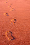 Footsteps in the sand. A photo of Footsteps in the sand Royalty Free Stock Photos
