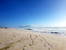 Footsteps in the sand, photographed at Melkbosstrand, South Africa