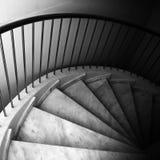 Footsteps on spiral ladder Stock Photos