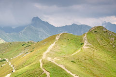 Foottpath In High Mountain. Royalty Free Stock Photo