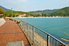 Footwalk na costa Fotografia de Stock Royalty Free