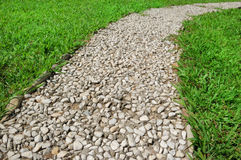 Footway in garden Stock Image