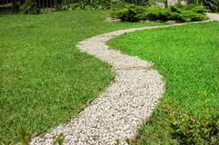 Footway in garden Royalty Free Stock Image