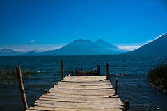 Footway at Lago de Atitlan Royalty Free Stock Photo