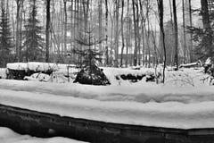 Footway w zimy Peklo dolinie Obraz Stock