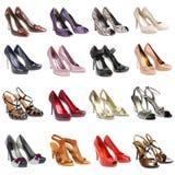 Footwear.16 stukken. Stock Afbeeldingen