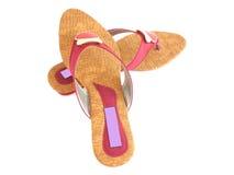 Footwear. Ladies footwear on a white background Royalty Free Stock Image